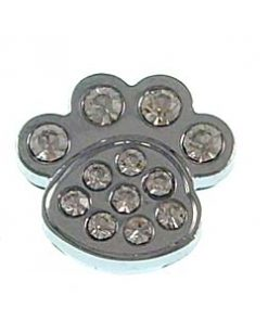 8 mm rhinestone sliding dog's paw fitting for 8 mm belts and strips