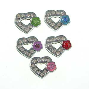 8 mm wear with plum heart shaped