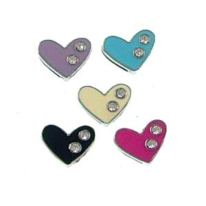 8 mm slide charms set with rhinestone,fits 8 mm width leather band