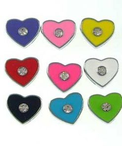 8mm slide charms set with rhinestone