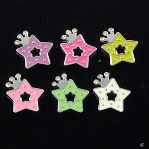 8mm slide charms set with rhinestone,fits 8 mm width leather band