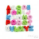 A TO Z letters slide charms,260 pcs,fit 8 mm width leather