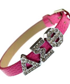 Greek letter slidable 8 mm bracelet bracelet – pink