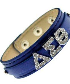 Greek letter slidable bracelet wristband – 3 buttons blue