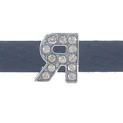 Greek letters alphabet Slide Charms fits 8mm bands