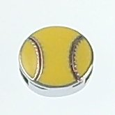 softball slide charms 8mm,yellow enamel fit 8 mm width leather ba