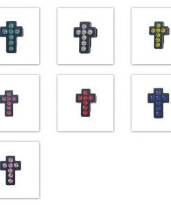 8mm black enamel mixed color cross sliding accessories for 8 mm belts and strips