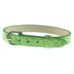 Peridot Green – 8mm leather bands slide charm bracelets-Bling Bling
