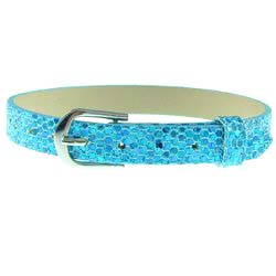 Sky Blue – 8mm leather bands slide charm bracelets-Bling Bling