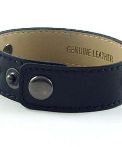 3 button black leather wrist strap for 8 mm slides 9 inches