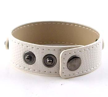 3 button-type serpentine white wristband for 8 mm sliding 8 inches