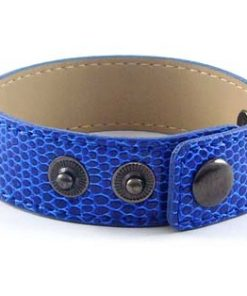 3 button-snake dark blue wristband for 8 mm slides 8 inches
