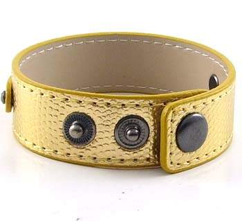 3 button-snake gold wristband for 8 mm slides 8 inches