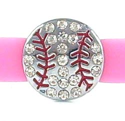 softball slide charms 8mm,Clear rhinestone