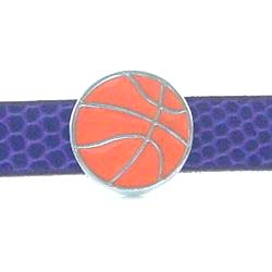 8 mm enamel sliding basketball accessory for 8 mm belts and strips