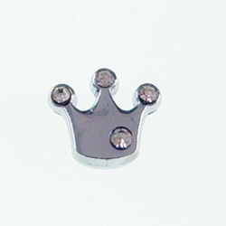 8 mm slide charms set with rhinestone