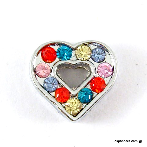 8 mm mixed color rhinestone sliding accessory for 8 mm belts and strips