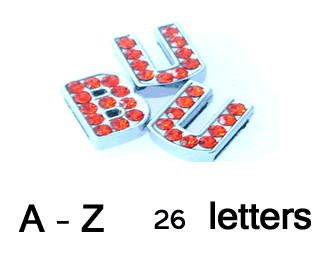 A TO Z letter slide Red 260 pcs, suitable for 8 mm width leather, steel belt…