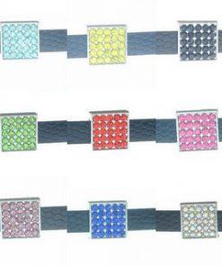 8 mm alloy sliding geometric square multi-color optional 10 pcs/bag