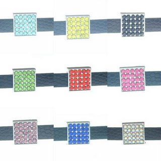 8 mm alloy sliding geometric square multi-color optional 10 pcs/bag