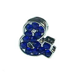 8mm alloy sliding connection symbol multi-color optional 10 pcs/bag