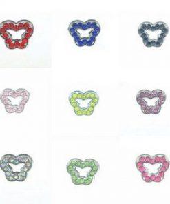 8 mm alloy sliding cross multi color optional 10 pcs/bag