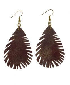 Fashion Feather Style Earrings Lightweight and Comfortable Stainless Steel Earrings Hook 3.5*5