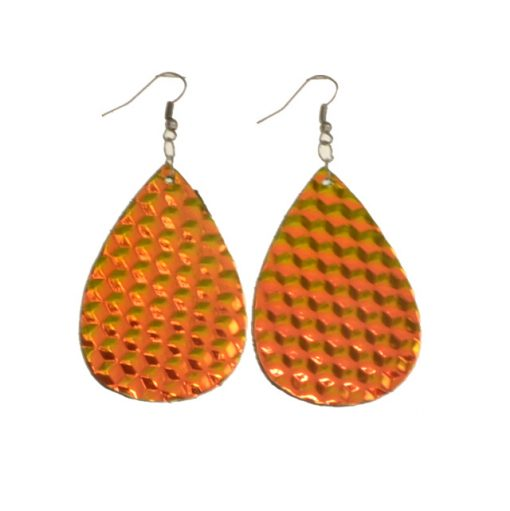 Fashion drop-shaped leather earrings for all types of people, lightweight and comfortable Stainless steel earrings hook 5 * 3.5 cm