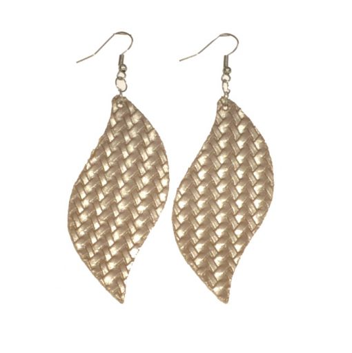 Stylish S-shaped leather earrings for all types of people, lightweight and comfortable stainless steel earring hooks 6 * 3 cm