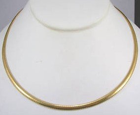 Gold Omega Necklace for use with letters or other accessories
