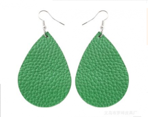 Fashion drop-shaped leather earrings for all types of people, lightweight and comfortable Stainless steel earrings hook 5 * 3.5.cm
