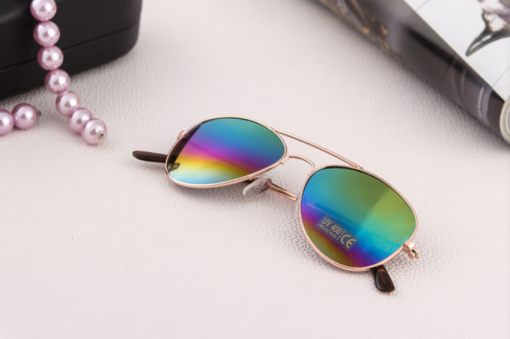 Larger children's sunglasses, adult sunglasses  Rainbow color