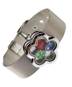 18 mm stainless steel  photo finished frame bracelet