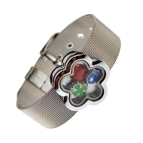 18 mm stainless steel  photo finished frame bracelet