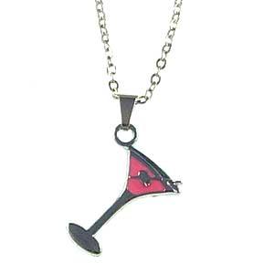 18″ necklace, pendant, mixed color, 1 set