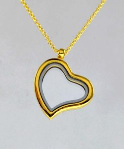 18-inch Photo box necklace. There are special accessories to choose from. gold
