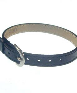 8 mm simulation leather bracelet for 8 mm accessories dark black