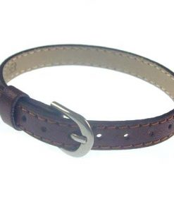 8 mm simulation leather bracelet for 8 mm accessories dark brown