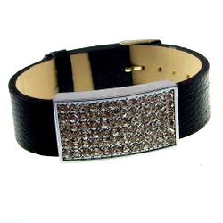18 mm Rhinestone Accessories + Black Hand Strap 1 set