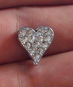 10 mm heart-shaped sliding accessories for 10 mm stainless steel belts and belts