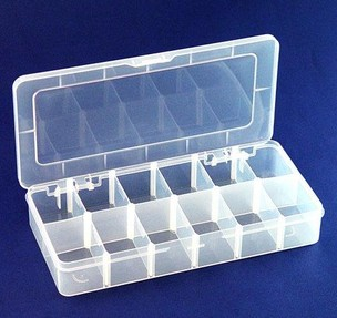 Movable Grid Transparent Acrylic Storage Box, Jewelry Display Box 2*6 Grid .12*25.5 cm