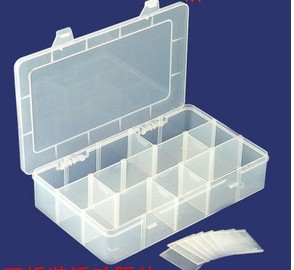 Movable Grid Transparent Acrylic Storage Box, Jewelry Display Box 3*5 Grid .17*28 cm
