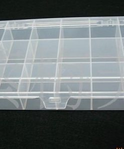 Grid transparent acrylic storage box, jewelry display box 3*6 grid. 20.7*10.8 cm