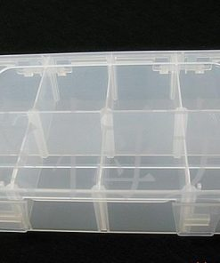 Removable mesh transparent acrylic storage box, jewelry display box 2*4 grid. 18.5*12.5 cm