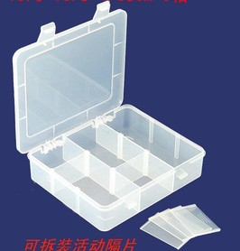 Removable mesh transparent acrylic storage box, jewelry display box 3*3 grid. 18.3*15.5 cm