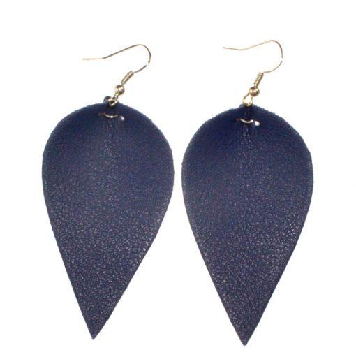 Fashionable sheepskin leaf earrings Lightweight and comfortable Stainless steel earrings hook 3.5*6