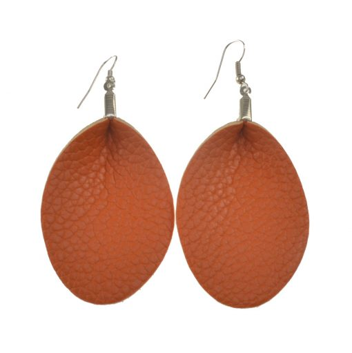 Fashion Leather earrings Suitable for all types of people, lightweight and comfortable stainless steel earrings hook Multi-color optional