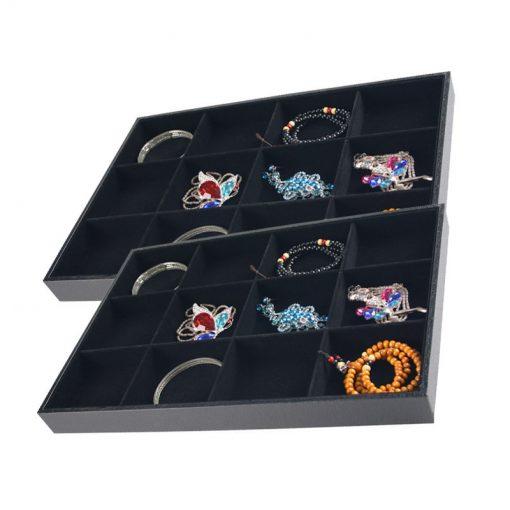 Black flannel display tray 3*4 grid 35*24*3 cm