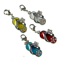 3 D Alloy Color mixing enamel pendant, bag pendant. Easy to use. Wide range of uses