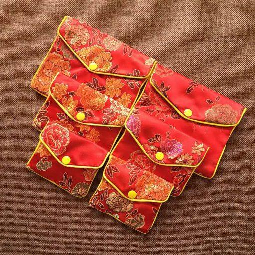 Jewelry bag satin jacquard bag 10*8 cm